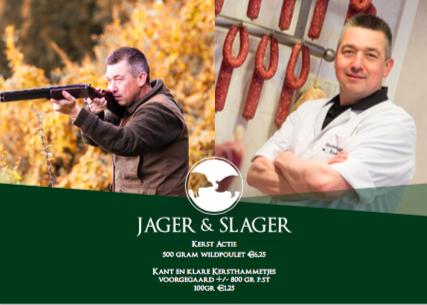 Slagerij van de Pasch-Jager & slager -Kerstfolder 2017